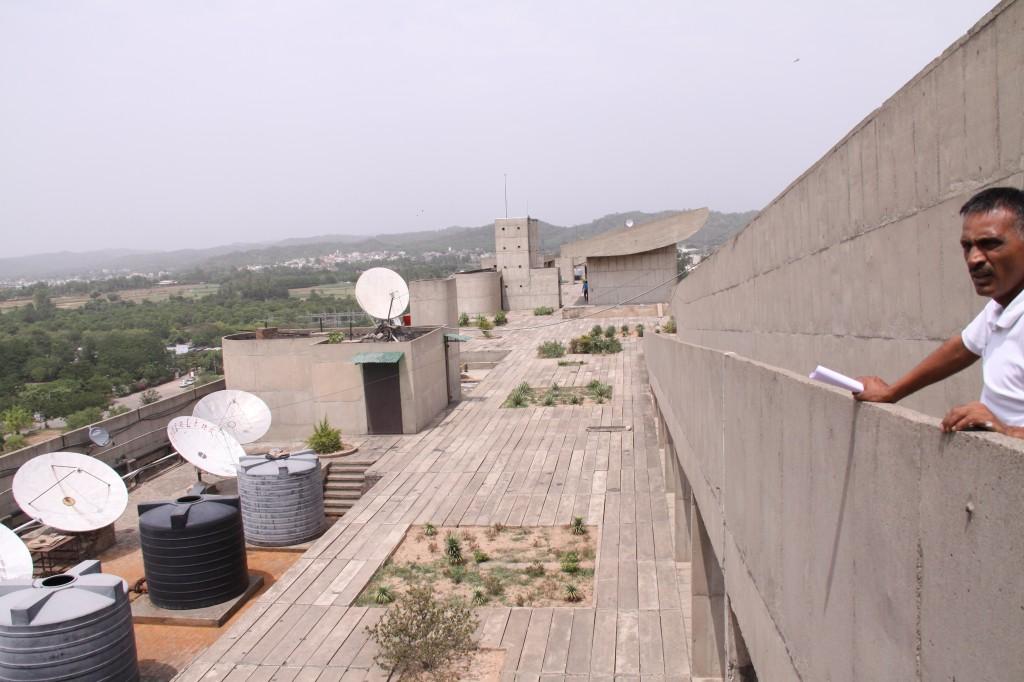 行政庁舎の屋上
