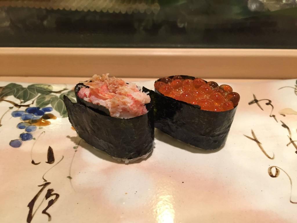 蟹とイクラ